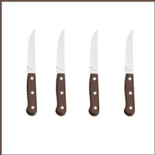 Restaurant Quality 4 STEAK KNIVES with Ultra Sharp Blades.